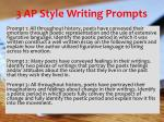3 ap style writing prompts
