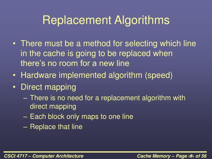Replacement Algorithms