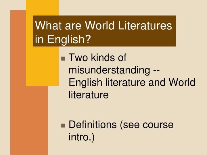 What are World Literatures in English?
