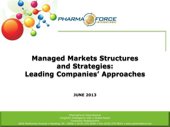 managed markets structures and strategies leading companies approaches n.