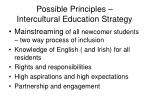 possible principles intercultural education strategy