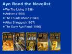 ayn rand the novelist