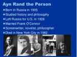 ayn rand the person