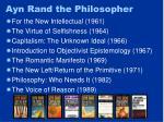 ayn rand the philosopher