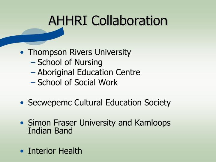 Ahhri collaboration