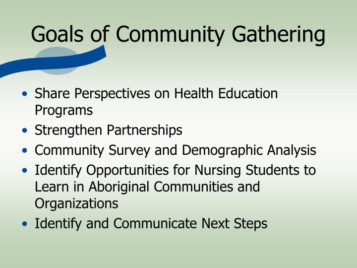 Goals of Community Gathering