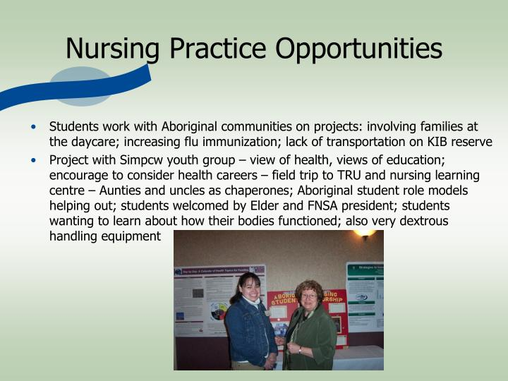 Nursing Practice Opportunities