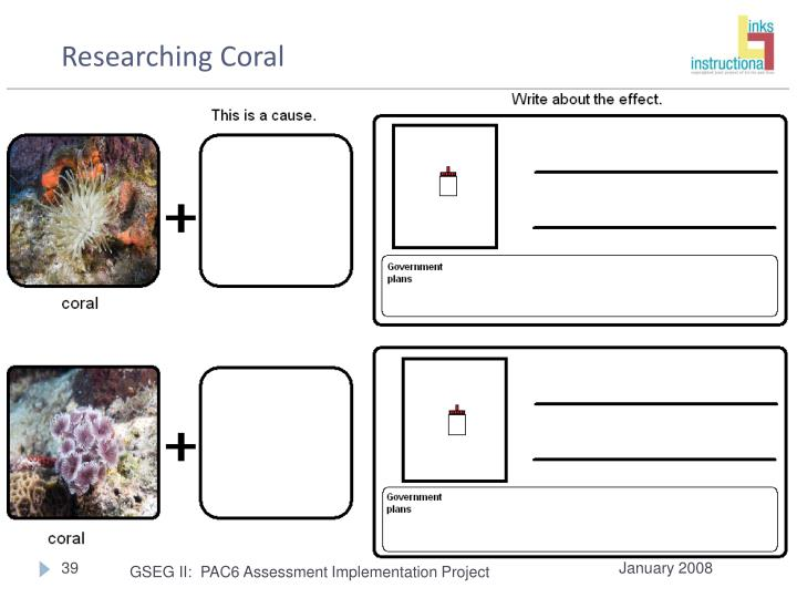 Researching Coral