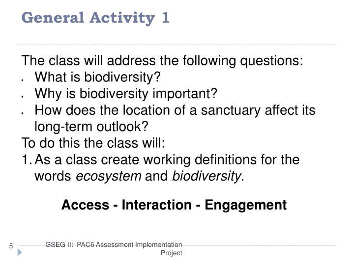 General Activity 1