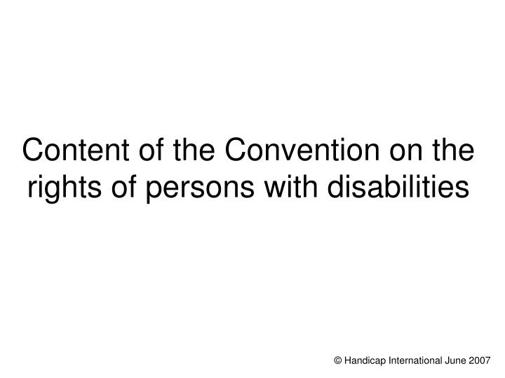 the goals of the inter american convention on persons with disabilities People with a mental illness may be subject to the un convention on the rights of persons with disabilities convention's characterisation of persons goals in.