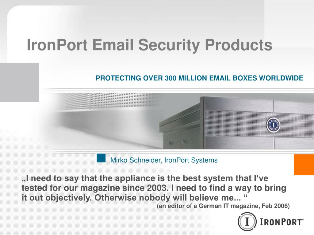 PPT - IronPort Email Security Products PowerPoint