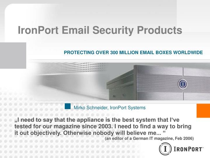 ironport email security products n.