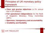 principles of uk monetary policy framework