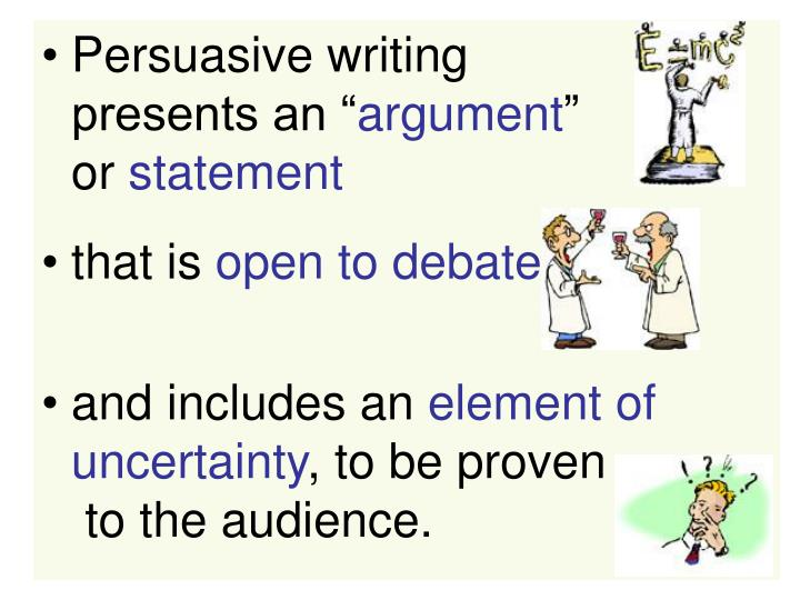 persuasive writing powerpoint presentation Persuasive writing techniques powerpoint persuasive techniques powerpoint ppt presentation persuasive techniques used in writing title persuasive writing is an essay which tries to the ppt hamburger model of persuasive writing powerpoint img source : slideservecom.