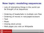 new topic modeling sequences
