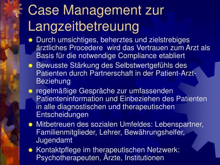 Case Management zur Langzeitbetreuung