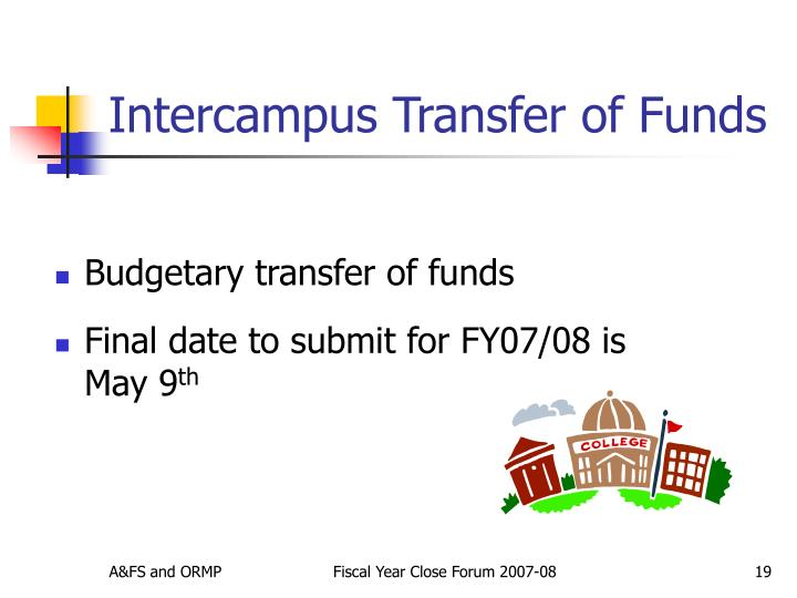 Intercampus Transfer of Funds