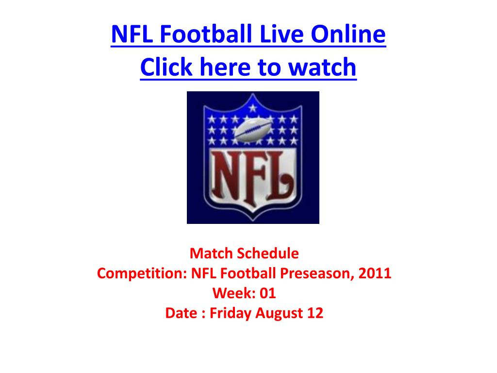 nfl football live online click here to watch l.