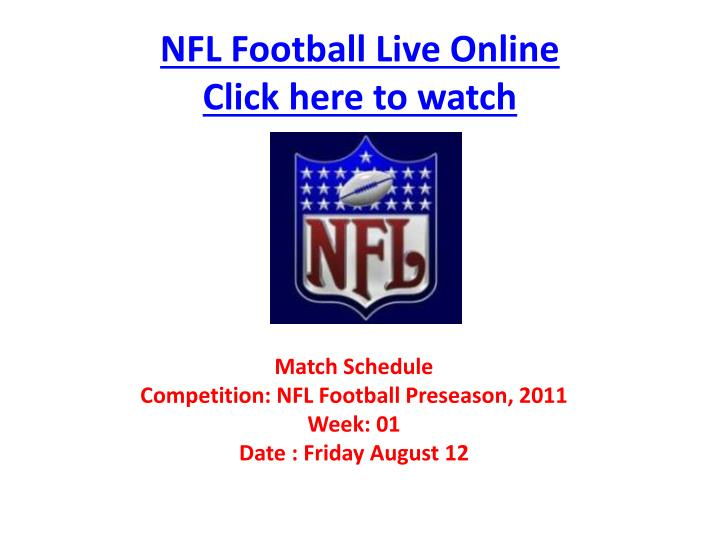 Nfl football live online click here to watch