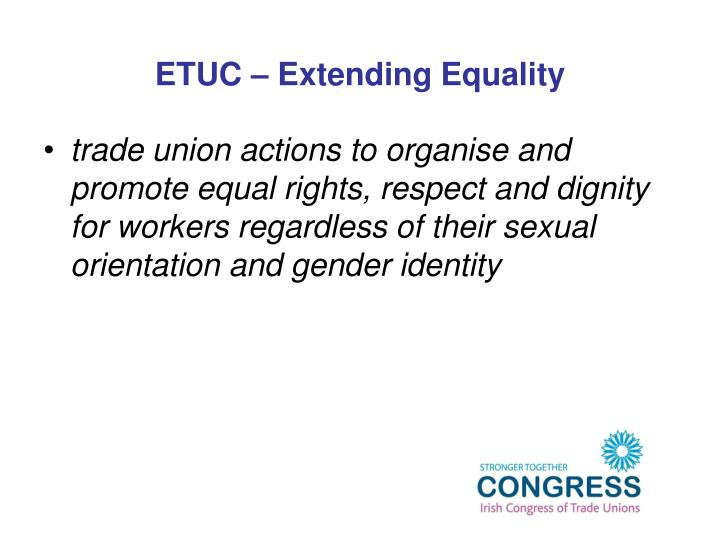 a discussion on extending equal rights and equal protection against discrimination to homosexuals Gay and transgender people are protected under the universal declaration of human rights and other international and regional treaties that require equal protection under the law nonetheless, formal and informal discrimination can be found in almost every country worldwide.