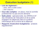ex cution budg taire 1