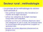 secteur rural m thodologie