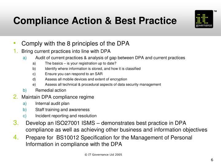 Compliance Action & Best Practice