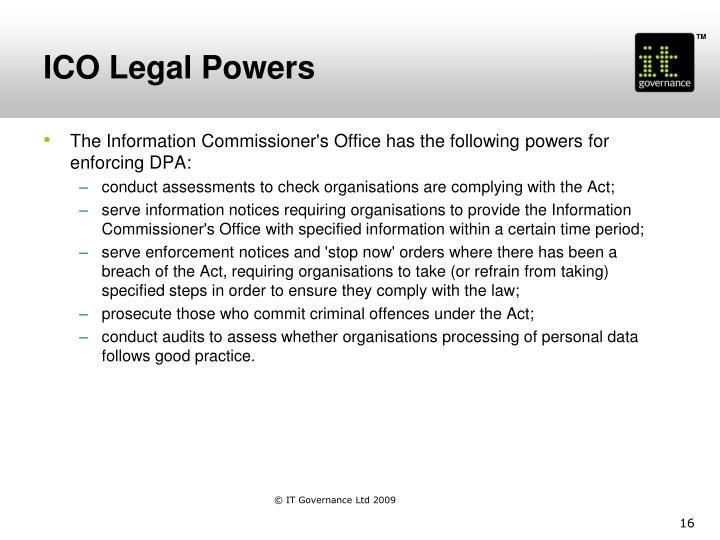 ICO Legal Powers