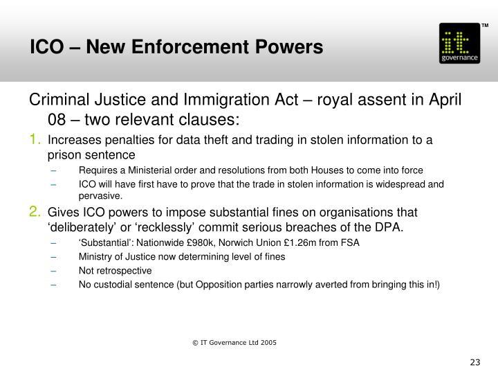 ICO – New Enforcement Powers