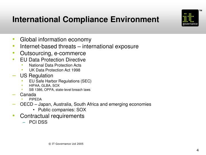 International Compliance Environment