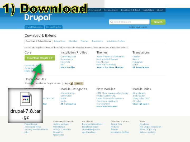 1) Download