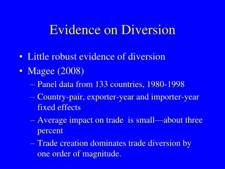 Evidence on Diversion