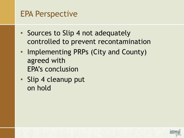 EPA Perspective