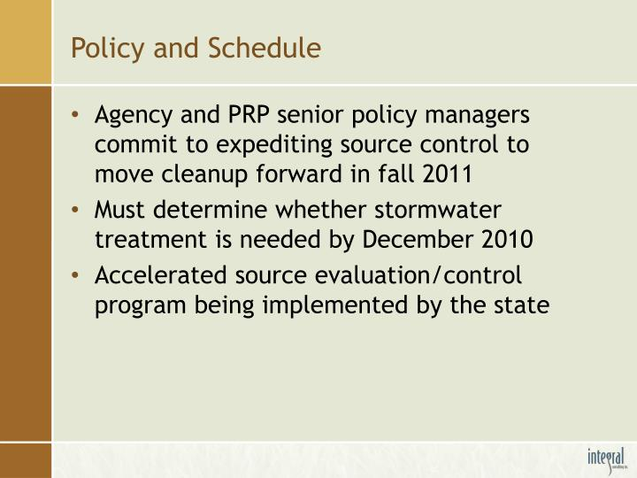 Policy and Schedule