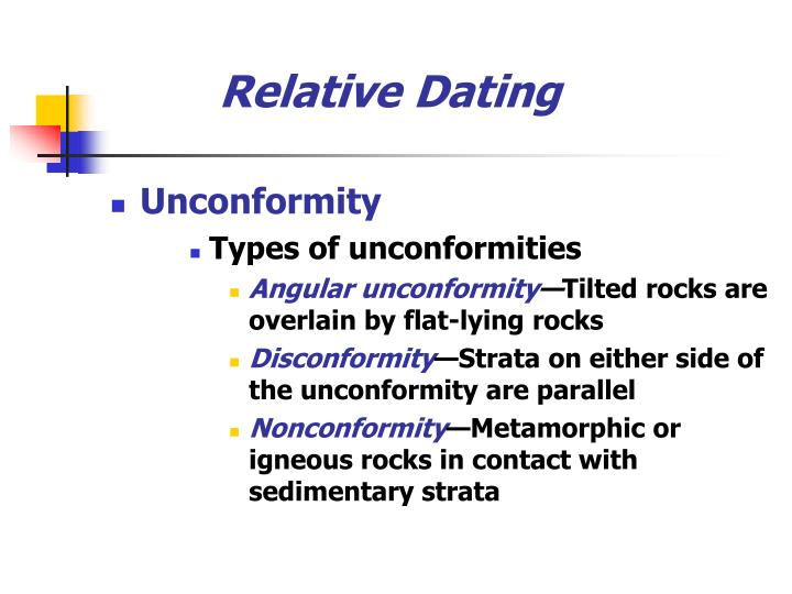 Relative dating unconformity