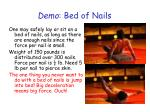 demo bed of nails