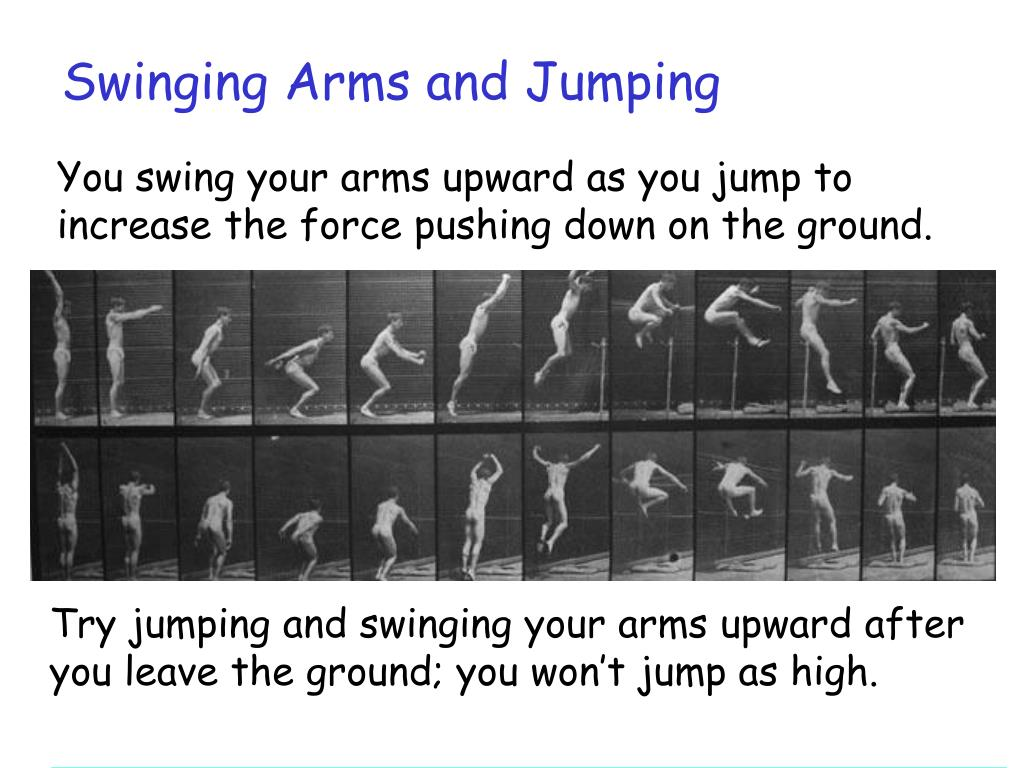 Swinging Arms and Jumping