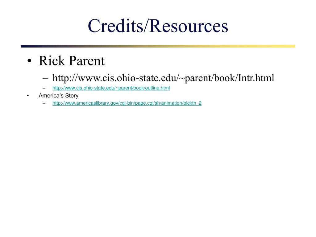 Credits/Resources