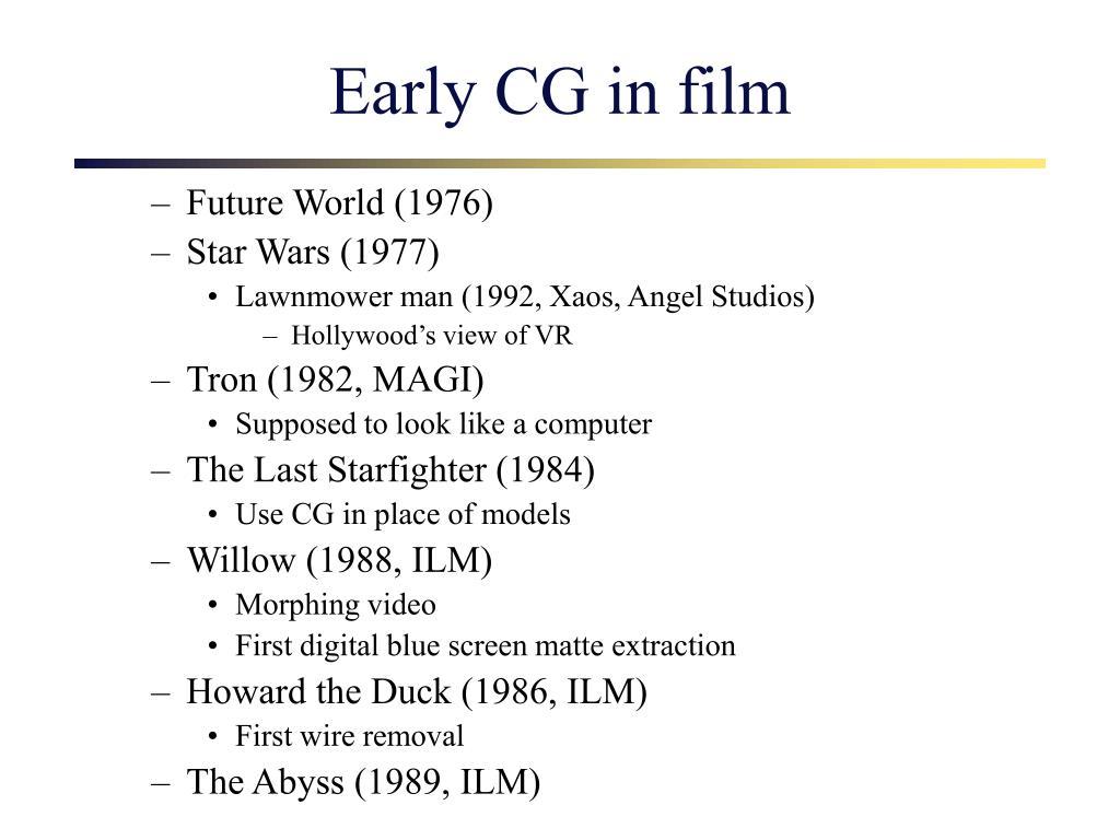 Early CG in film