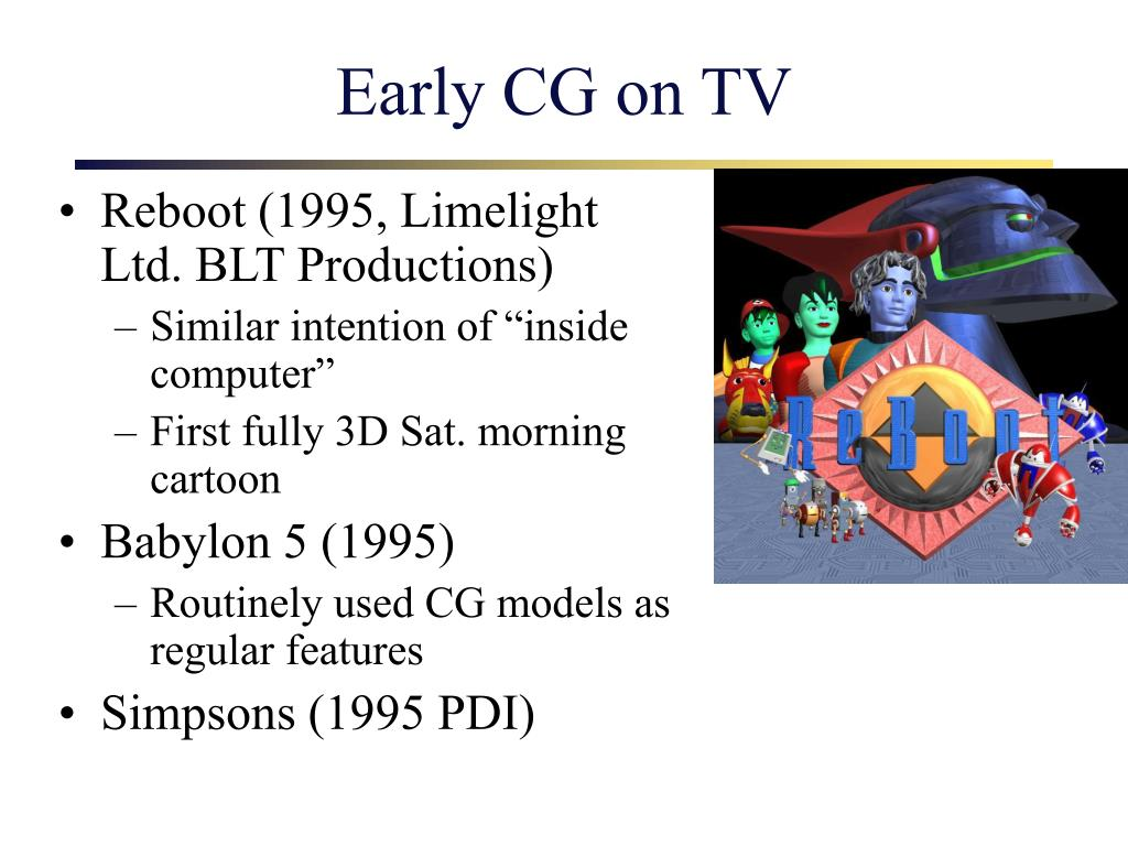 Early CG on TV