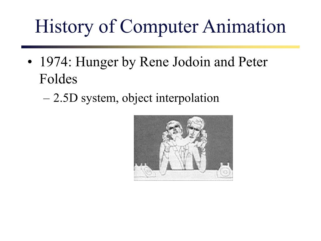 History of Computer Animation