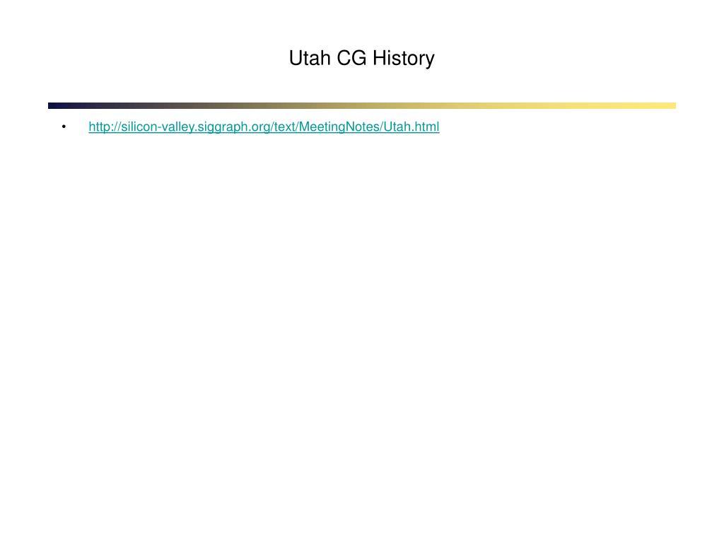 Utah CG History