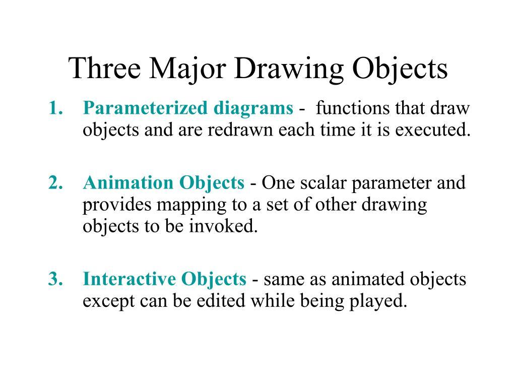 Three Major Drawing Objects