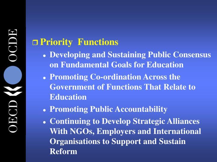 Priority  Functions