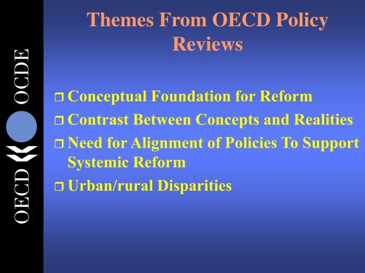 Themes From OECD Policy Reviews