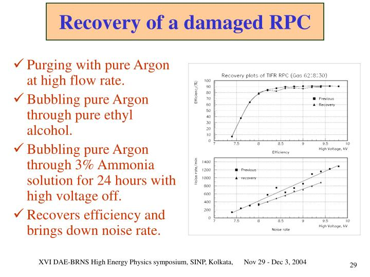 Recovery of a damaged RPC