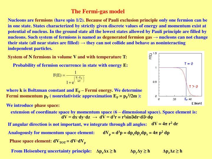 The Fermi-gas model
