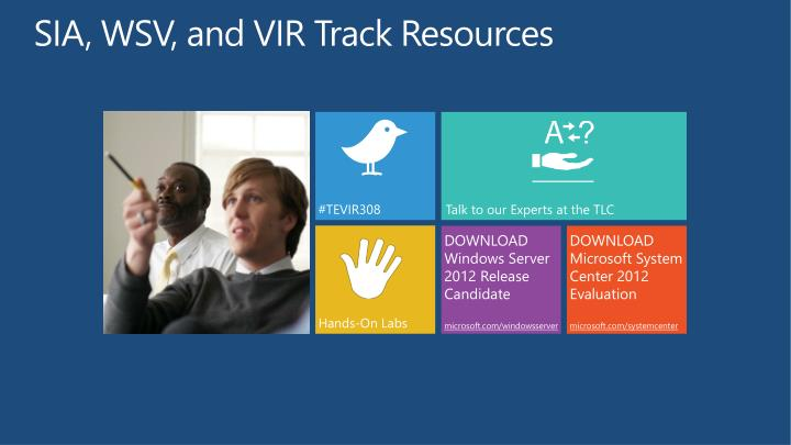 SIA, WSV, and VIR Track Resources