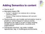 adding semantics to content