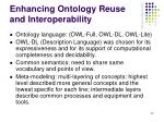 enhancing ontology reuse and interoperability